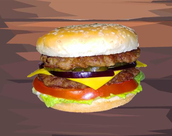 дабл биф чизбургер1